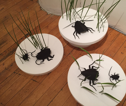 Mixed Media- cut paper insects
