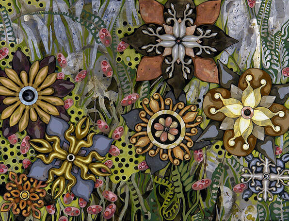 painting - botanicals and patterns